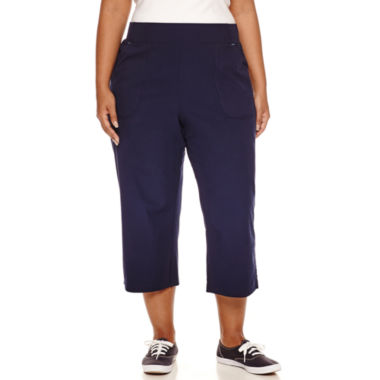 jcpenney.com | Made For Life Woven Workout Shirred Leg Capris Plus