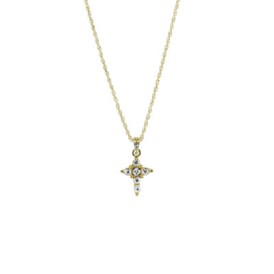 1928 Jewelry 1928 Religious Jewelry Womens Gray 14K Gold Over Brass Pendant Necklace qiQTm9