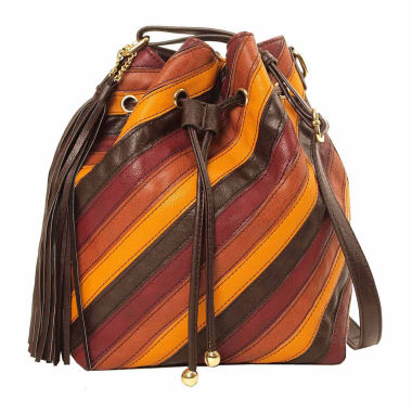 jcpenney.com | Imoshion Zola Striped Pieced Polyurethane Bucket Bag