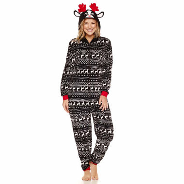 jcpenney.com | Reindeer Long Sleeve One Piece Pajama