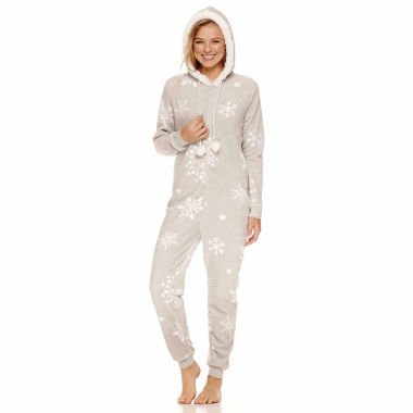 jcpenney.com | Snowflake Long Sleeve One Piece Pajama