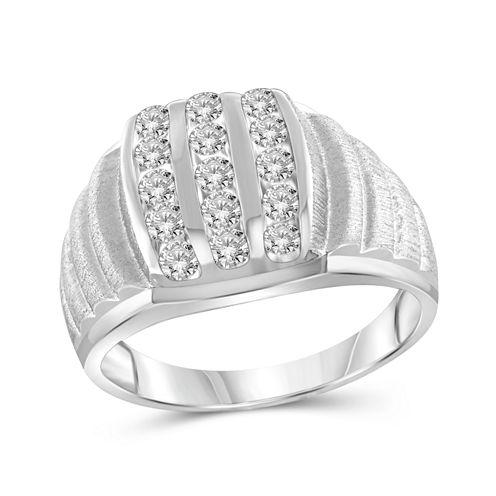 Mens 1 CT. T.W. Round White Diamond 10K