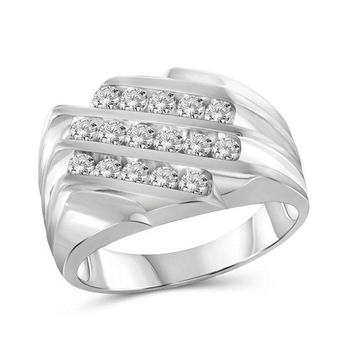 Mens 1 CT. T.W. White Diamond 10K Gold Band