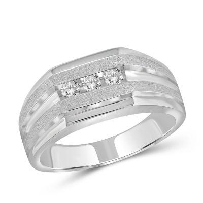 Fine Jewelry Mens 1/4 CT. T.W. Round White Diamond 10K o42S8dD