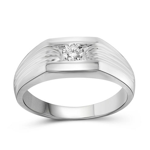Mens 1/4 CT. T.W. Round White Diamond 10K