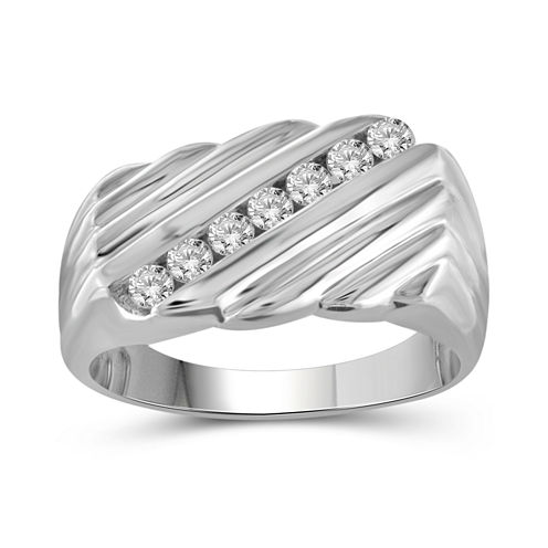 Mens 1/2 CT. T.W. White Diamond 10K Gold Band