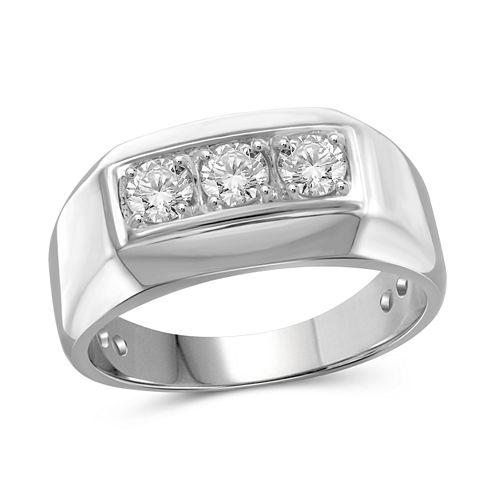 Mens 1/2 CT. T.W. White Diamond 10K Gold Band