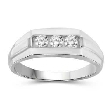 jcpenney.com | Hallmark Bridal Mens 1/2 CT. T.W. White Diamond 10K Gold Band