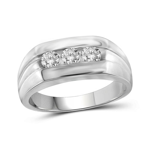 Mens 3/4 CT. T.W. White Diamond 10K Gold Band