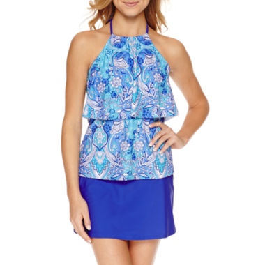 jcpenney.com | Aqua Couture Solid Tankini Swimsuit Top