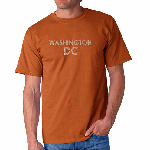 Los Angeles Pop Art Washington Dcshort Sleeve Crew Neck T-Shirt-Big And Tall