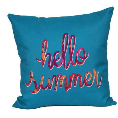 jcpenney.com | Outdoor Oasis™ Hello Summer Square Pillow