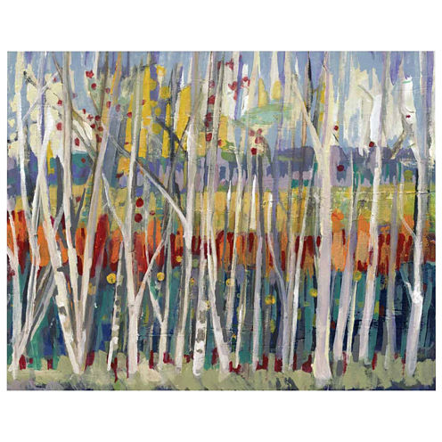 Birch Scape Canvas Wall Art