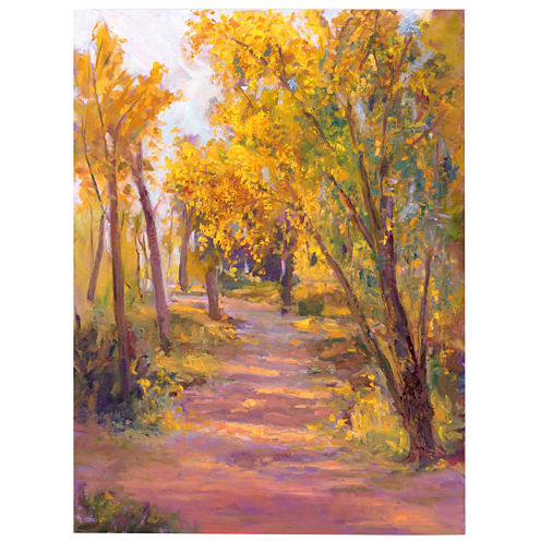 Golden Trees II Canvas Wall Art