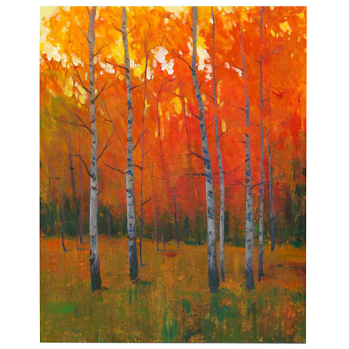 Autumn Birch Trees Canvas Wall Art