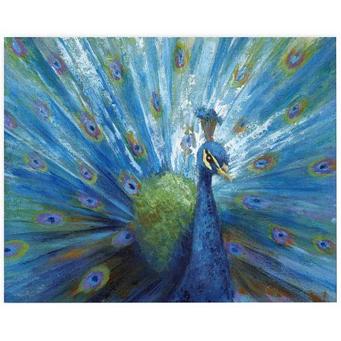 Spectacular Peacock Canvas Wall Art