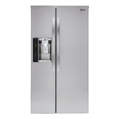 jcpenney.com | LG 22 cu. ft. Ultra Capacity Side-by-Side Counter-Depth Refrigerator with Ice & Water Dispenser