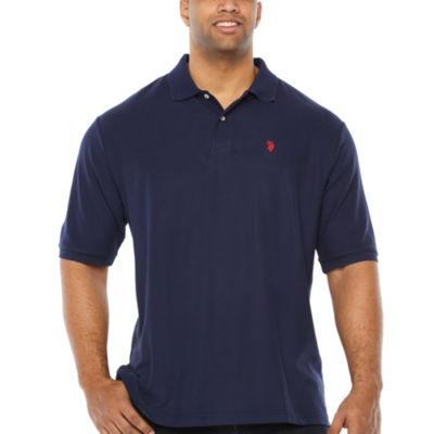 f8bb31e907c1 U.S. Polo Assn. Mens Y Neck Short Sleeve Polo Shirt Big and Tall ...