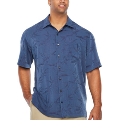 Van Heusen Air Jaquard Print Short Sleeve Button Front Shirt Big And Tall by Van Heusen
