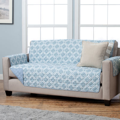 Captivating Adalyn Collection Deluxe Reversible Quilted Sofa Protector