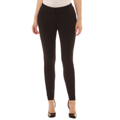 Worthington Curvy Fit Luxe Stretch Slim Leg Pants by Worthington
