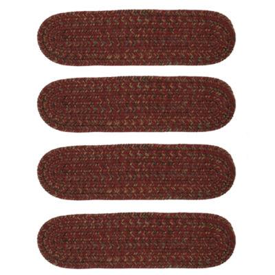 Colonial Mills Grafton Tweed Braided Oval Reversible Stair Treads