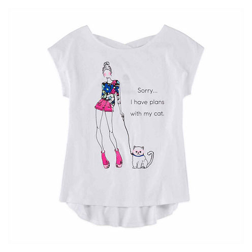 Total Girl Cross-Back Graphic Tee - Girls' 7-16 and Plus
