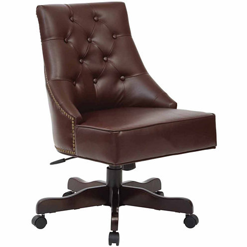 Rebecca Office Chair in Linen Fabric or Cocoa Bonded Leather