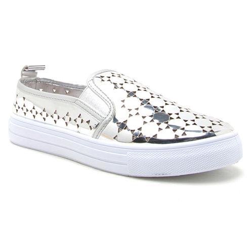 Qupid Reba Metallic Womens Sneakers