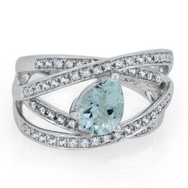 jcpenney.com | Womens Blue Aquamarine Sterling Silver Cocktail Ring