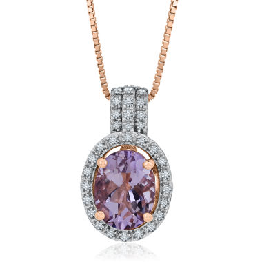 jcpenney.com | Womens Purple Amethyst Gold Over Silver Pendant Necklace