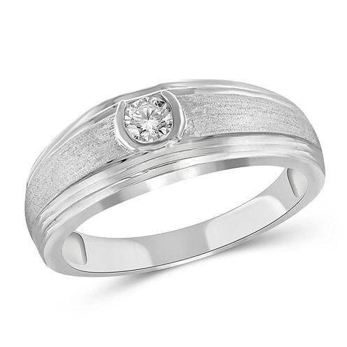 Mens 3/4 CT. T.W. Genuine Round White Diamond 10K