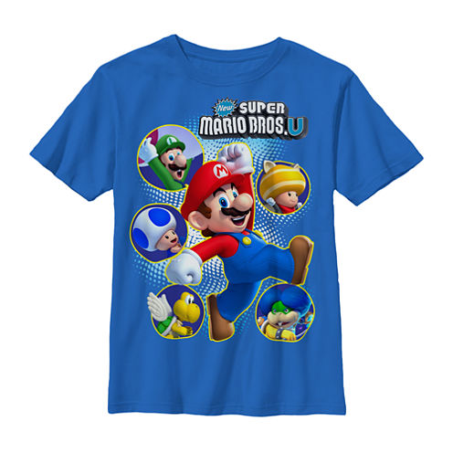 Fifth Sun H16 Mario Super Cast Tee- Preschool Boys 4-7