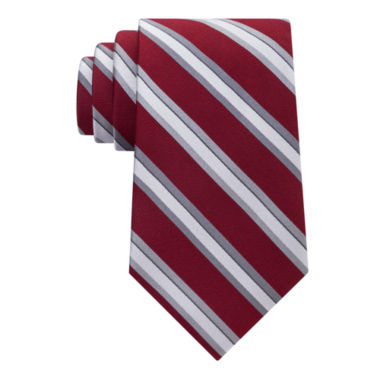 jcpenney.com | Stafford Comfort Stretch Text Stripe Tie