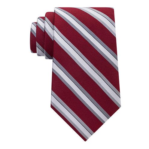 Stafford Comfort Stretch Text Stripe Tie