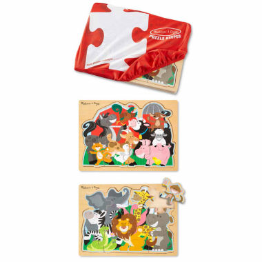 jcpenney.com | Melissa & Doug 3-pc. Farm And Zoo Puzzle Keeper