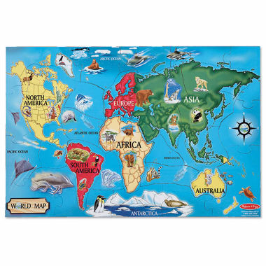 jcpenney.com | Melissa & Doug World Map Floor Puzzle 33-Pc.