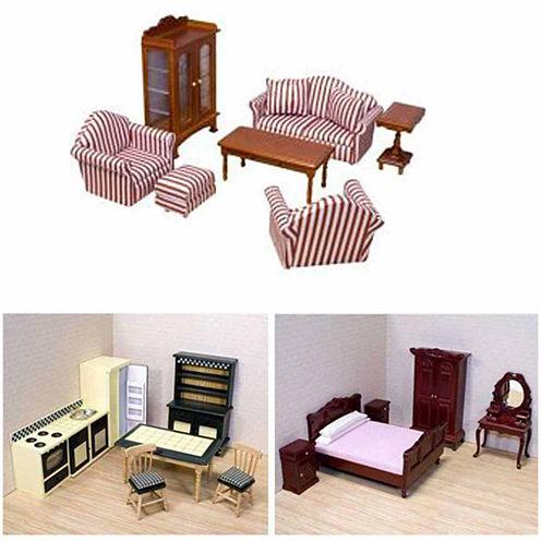Melissa And Doug 32-pc Doll House Furniture Bundle