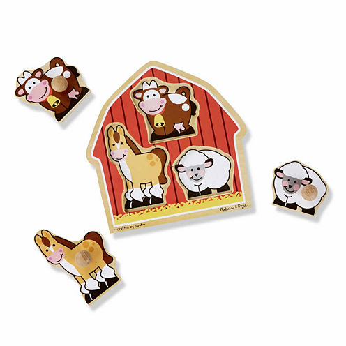 Melissa & Doug® Farm Animals Jumbo Knob Puzzle