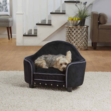jcpenney.com | Enchanted Home Ultra Plush Headboard Pet Sofa in Black