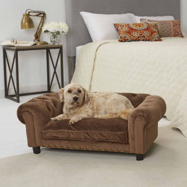 jcpenney.com | Enchanted Home Ultra Plush Melbourne Tufted Pet Sofa in Brown