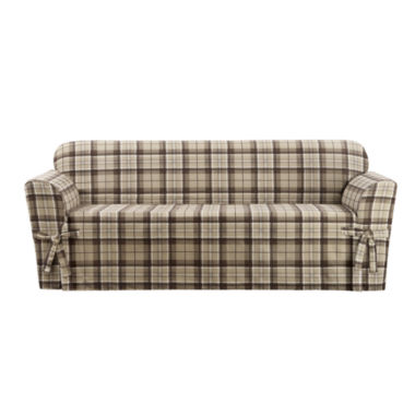 jcpenney.com | SURE FIT® Highland Plaid 1PC Slipcover Sofa