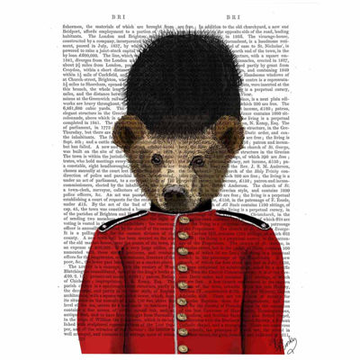 Guardsman Bear Canvas Wall Art