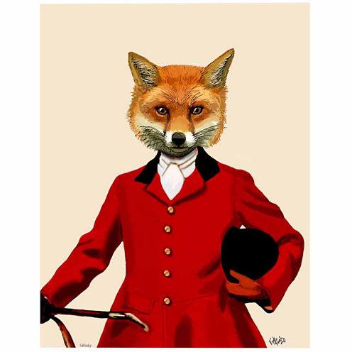 Fox Hunter  Portrait Canvas Wall Art
