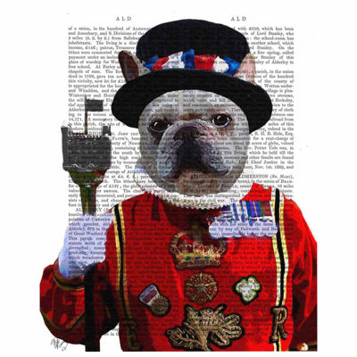 Bulldog Beefeater Canvas Wall Art
