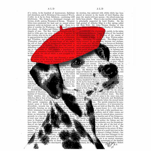 Dalmatian With Red Beret Canvas Wall Art