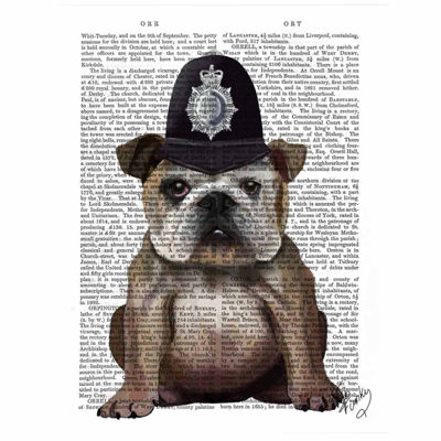 Bulldog Policeman Canvas Wall Art
