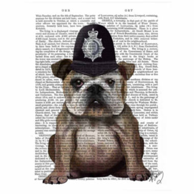 jcpenney.com | Bulldog Policeman Canvas Wall Art