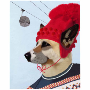 jcpenney.com | Dog in Ski Sweater Canvas Wall Art