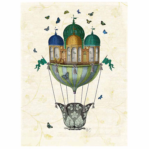 Butterfly House Canvas Wall Art